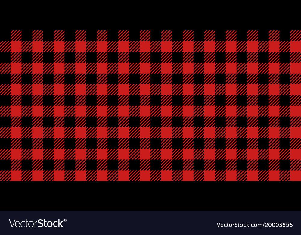 Red and black lumberjack seamless pattern