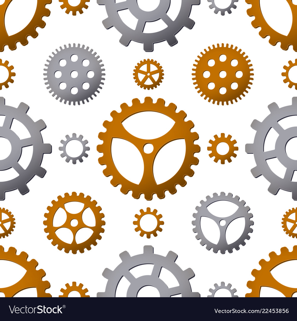 Seamless pattern background with gears