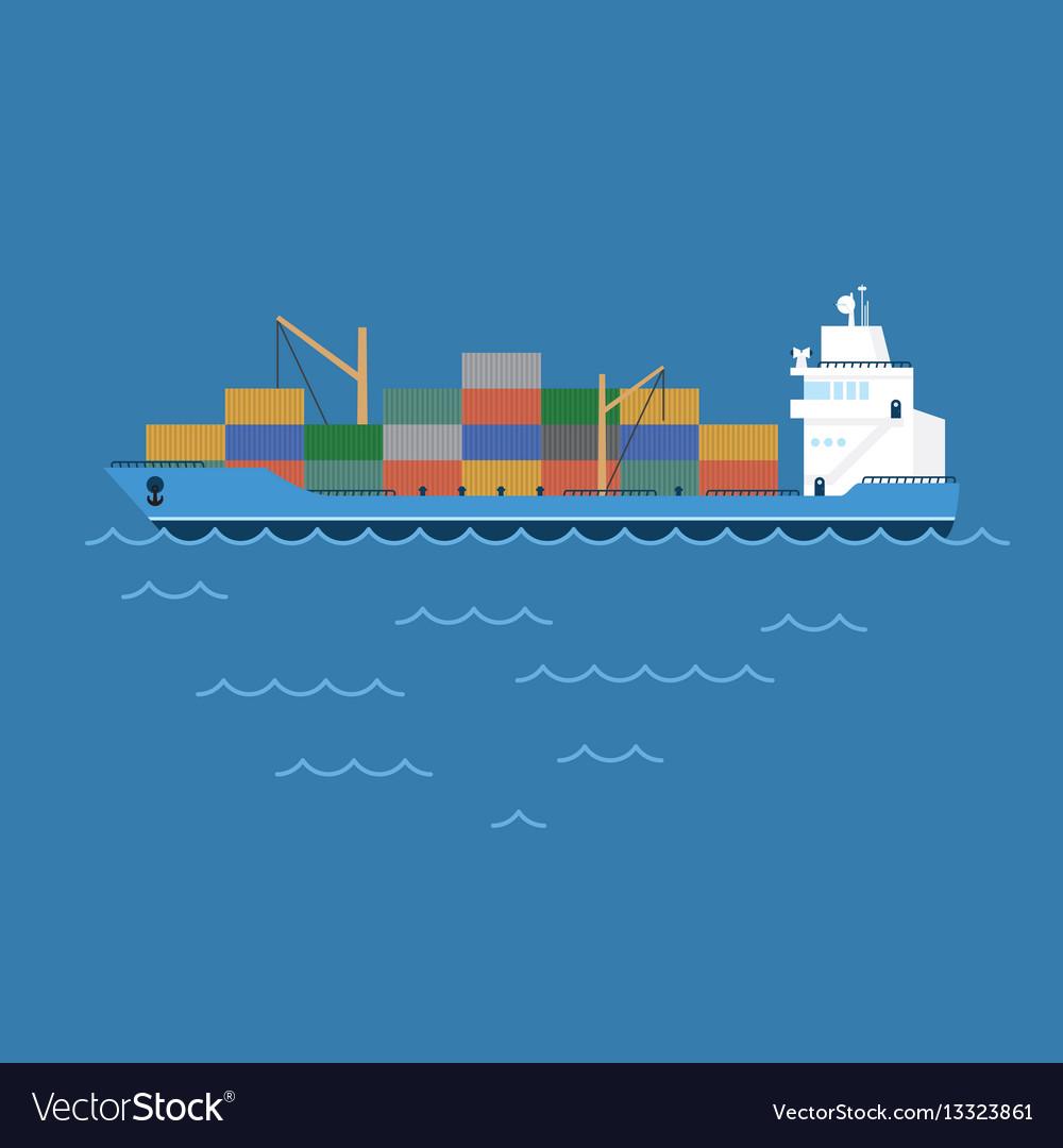 Barge cargo ship transporting