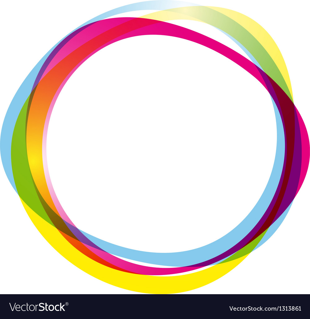 colorful ring logo royalty free vector image vectorstock vectorstock