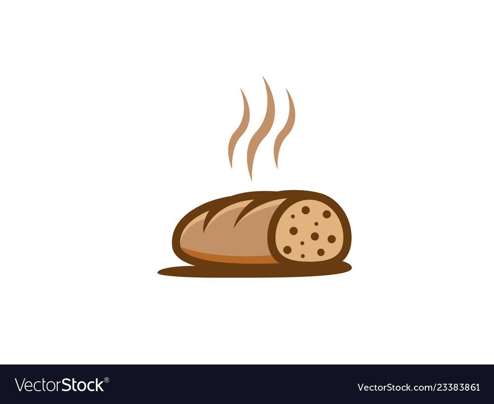 Creative hot sliced bread logo