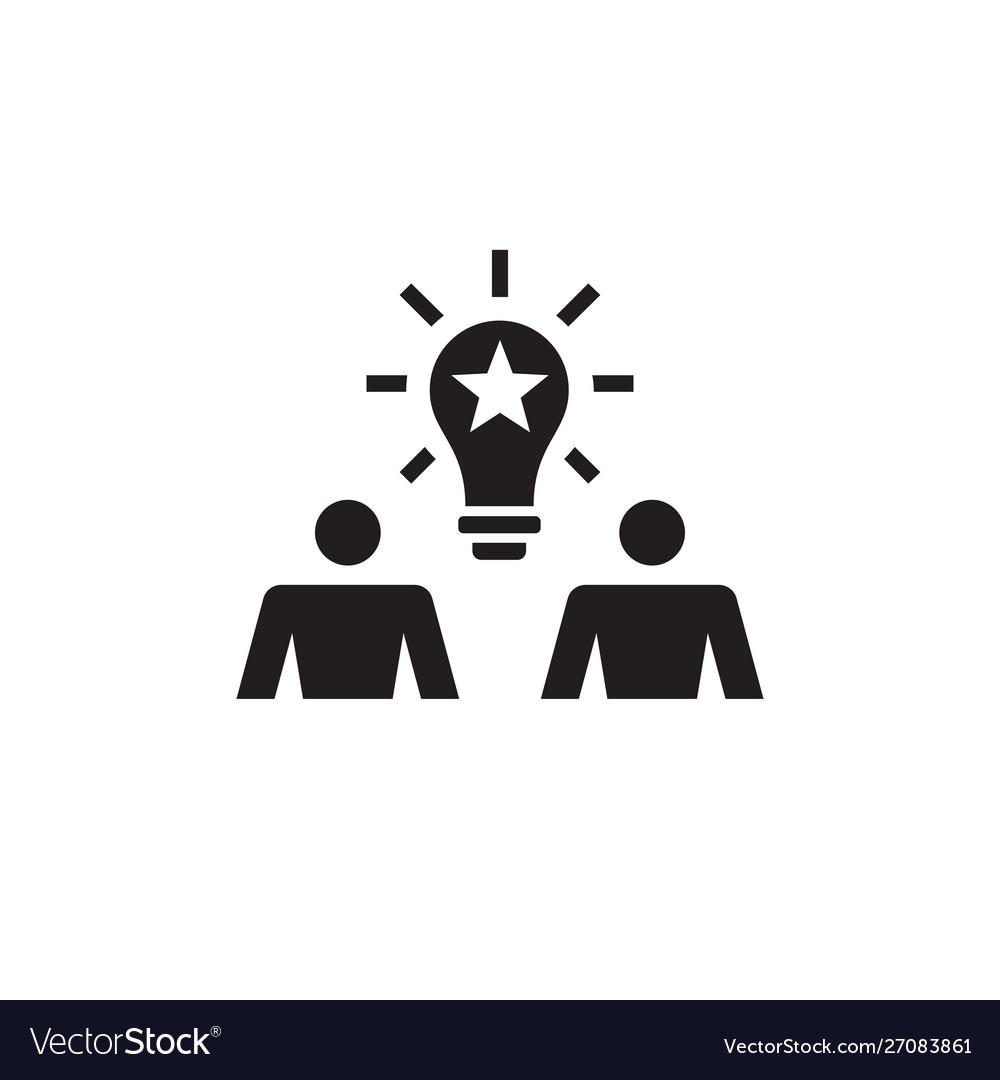 Creative idea concept icon people communic