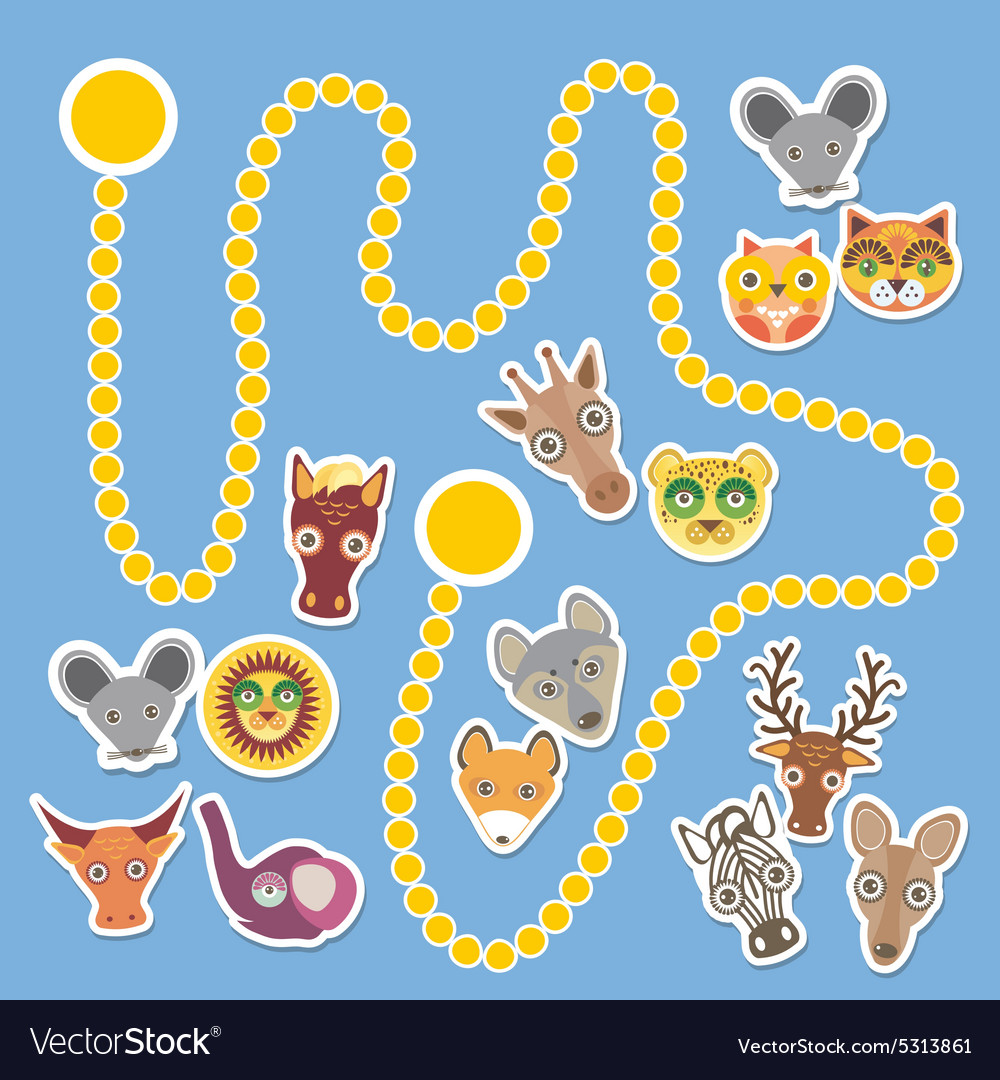 Funny cartoon animals game for Preschool Children