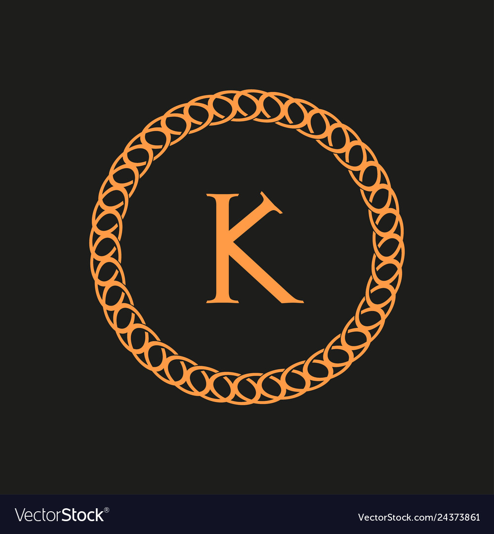 Logo for the letter with an ornament black