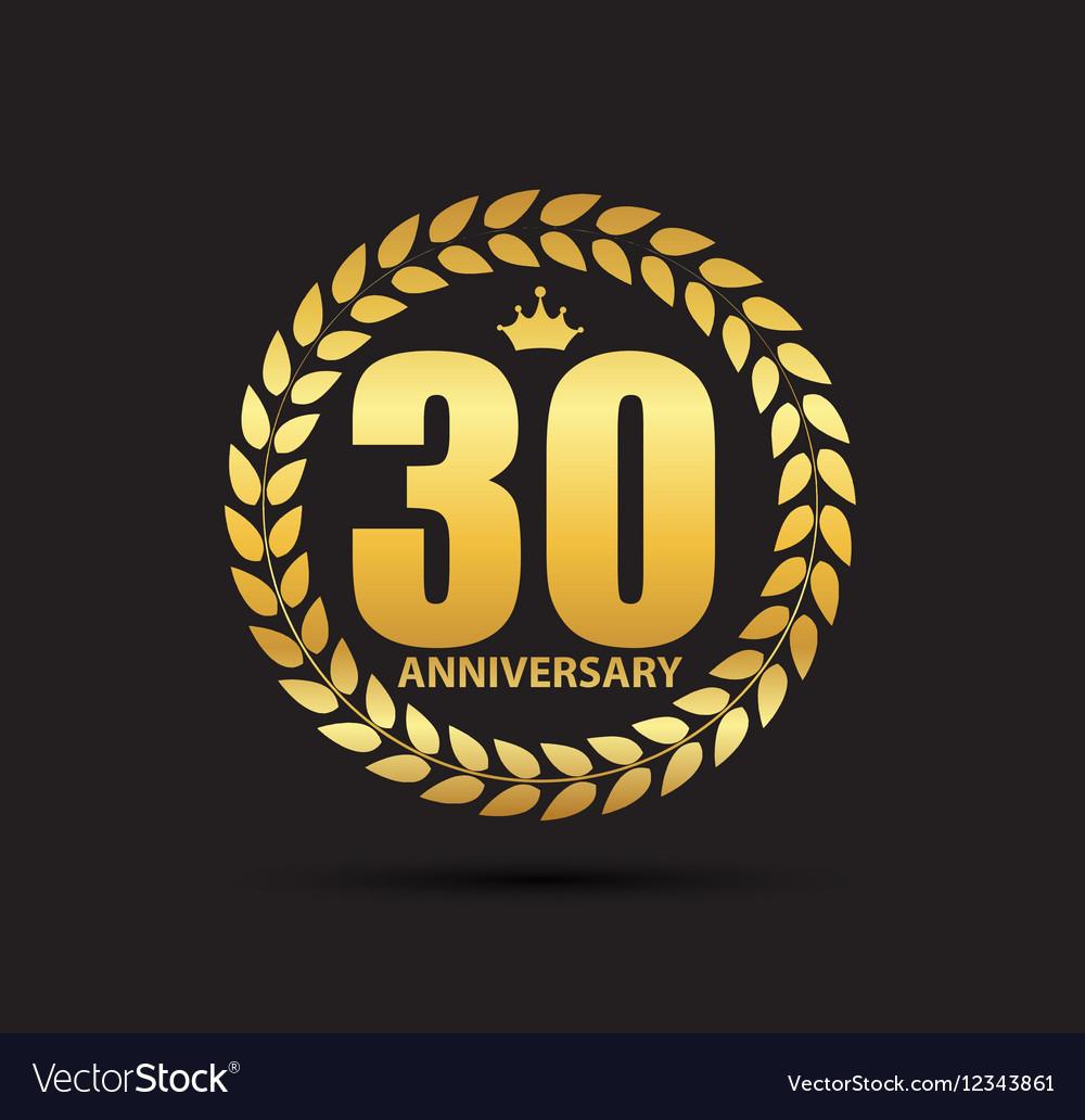 Template Logo 30 Years Anniversary