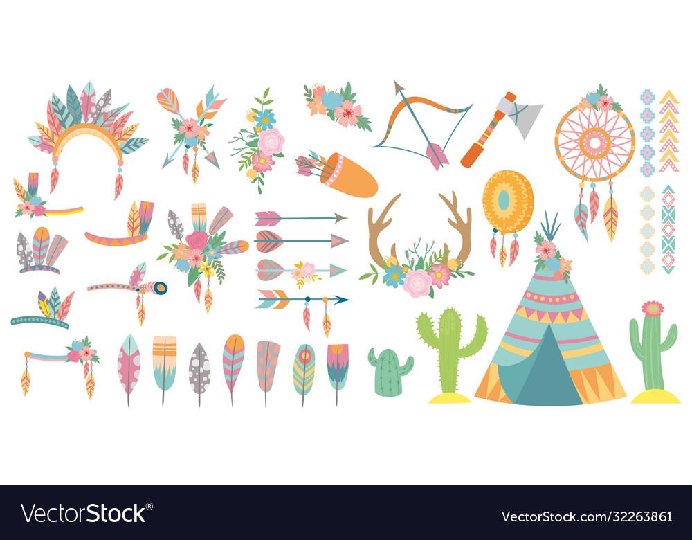 Tribal elements set tribal design element