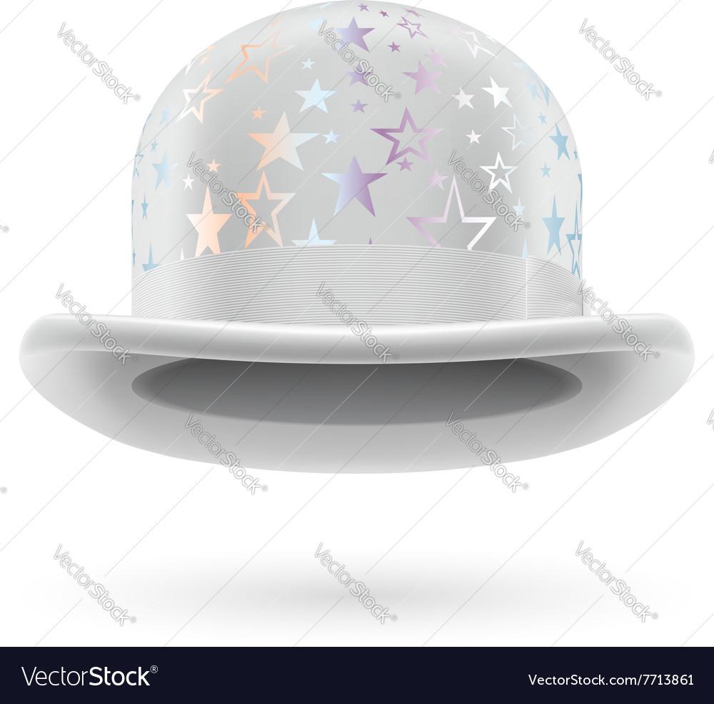 White starred bowler hat