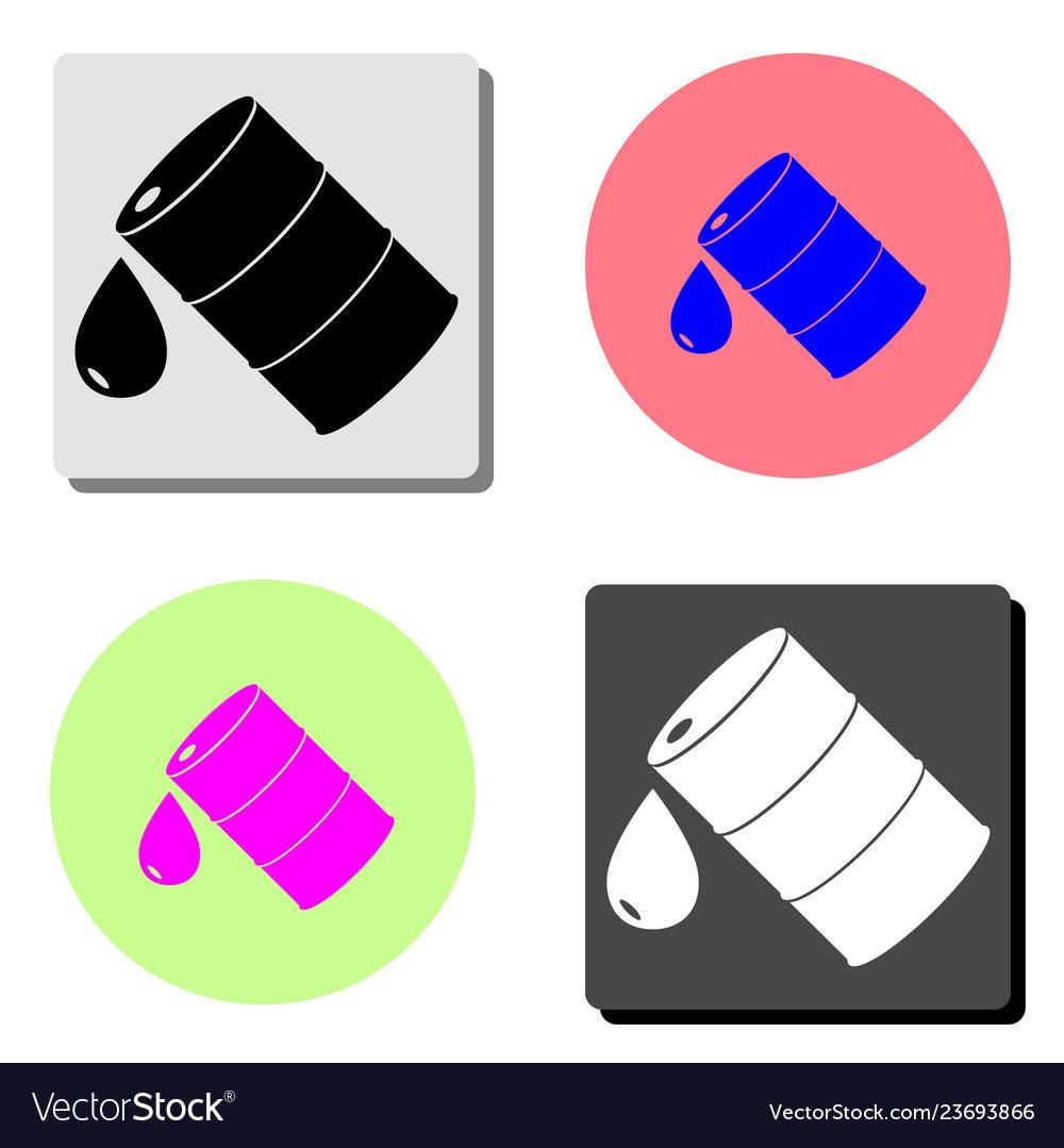 Barrel oil flat icon
