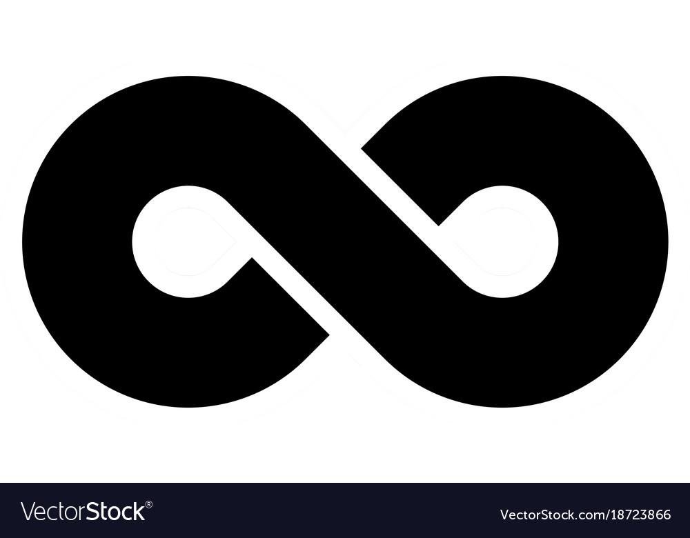 Black Infinity Symbol Icon Concept Of Infinite Vector Image