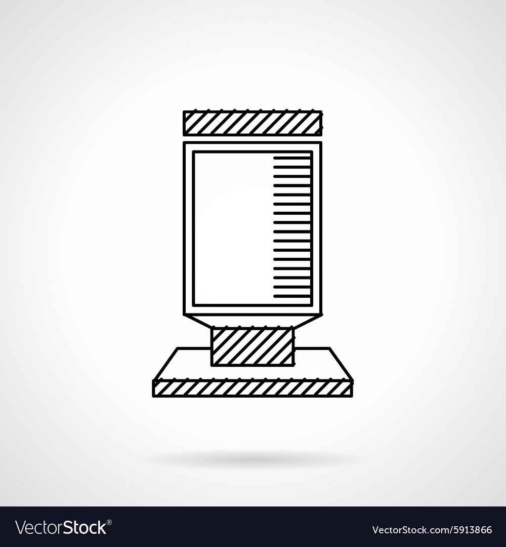 Citylight flat line icon vector image