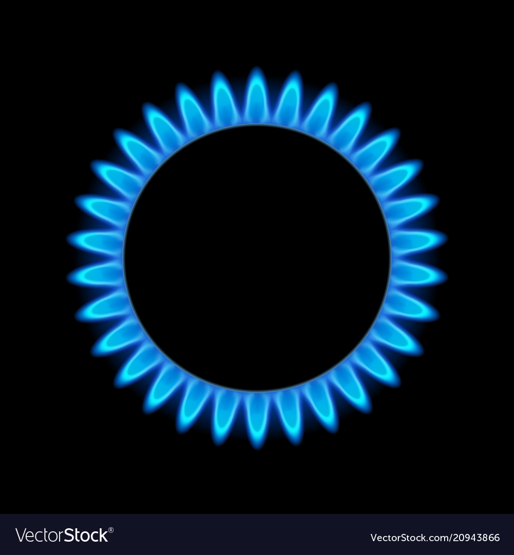 Gas flame blue energy gas stove burner cooking