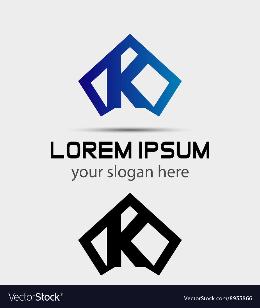 letter k logo icon design template vector image