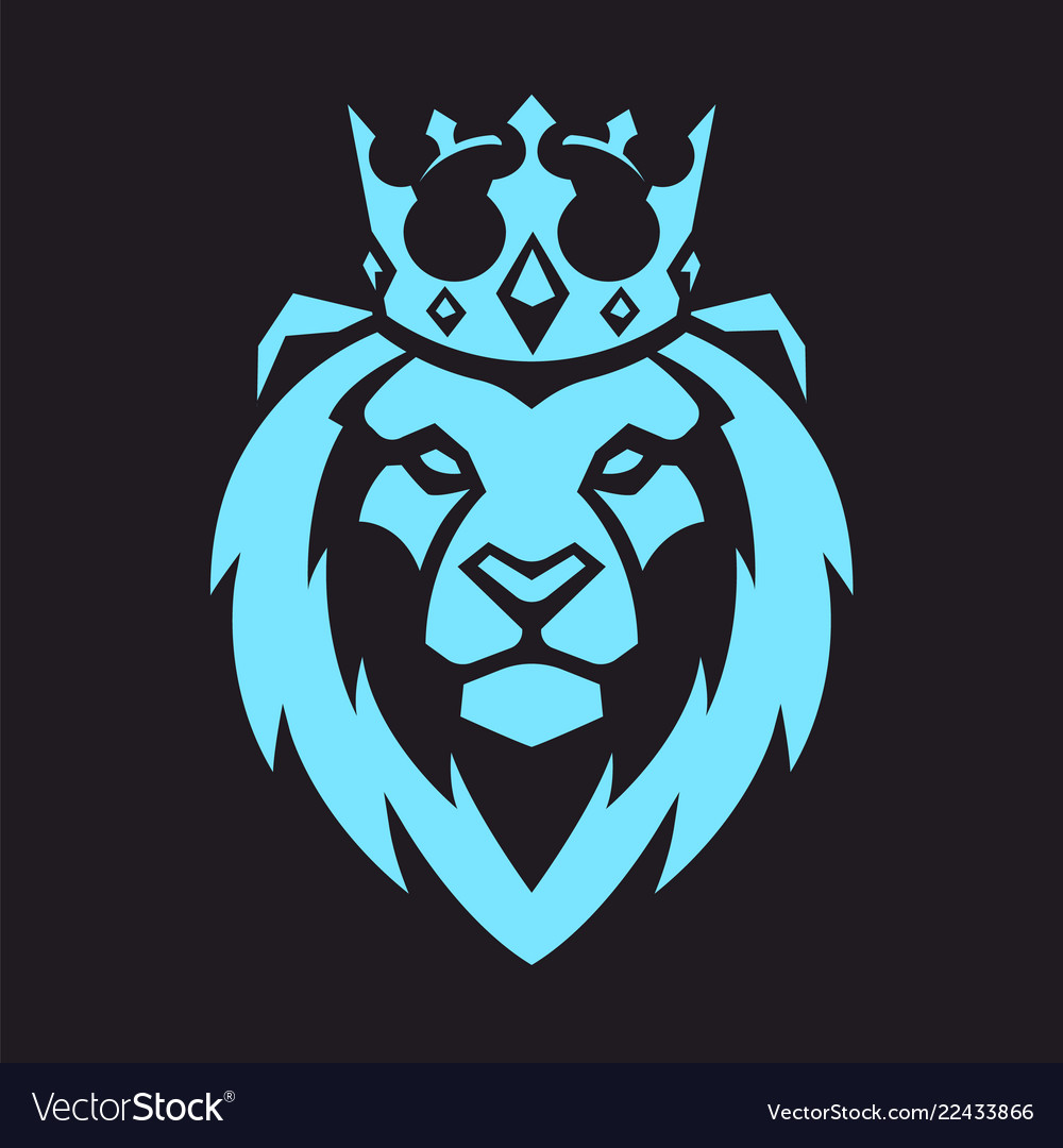 Lion in crown mascot