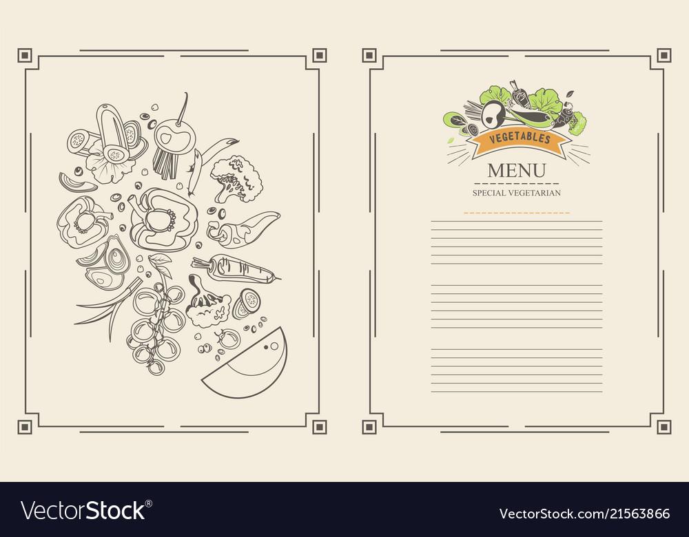 Menu set of vegetables