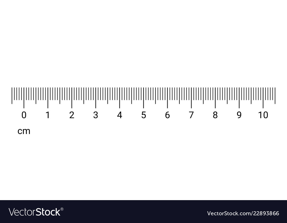 Ruler Cm Measurement Numbers Scale Royalty Free Vector Image