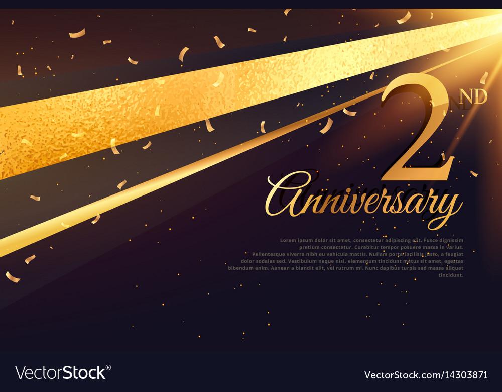 2nd anniversary celebration card template