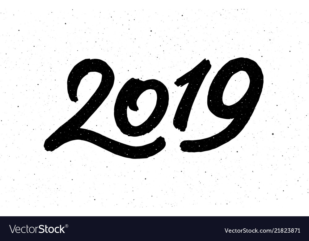 Calligraphy for 2019 new year of the pig