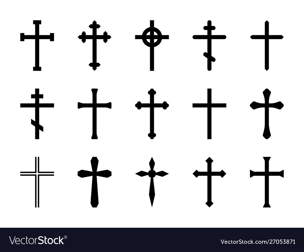 Christian crosses catholic orthodox and celtic