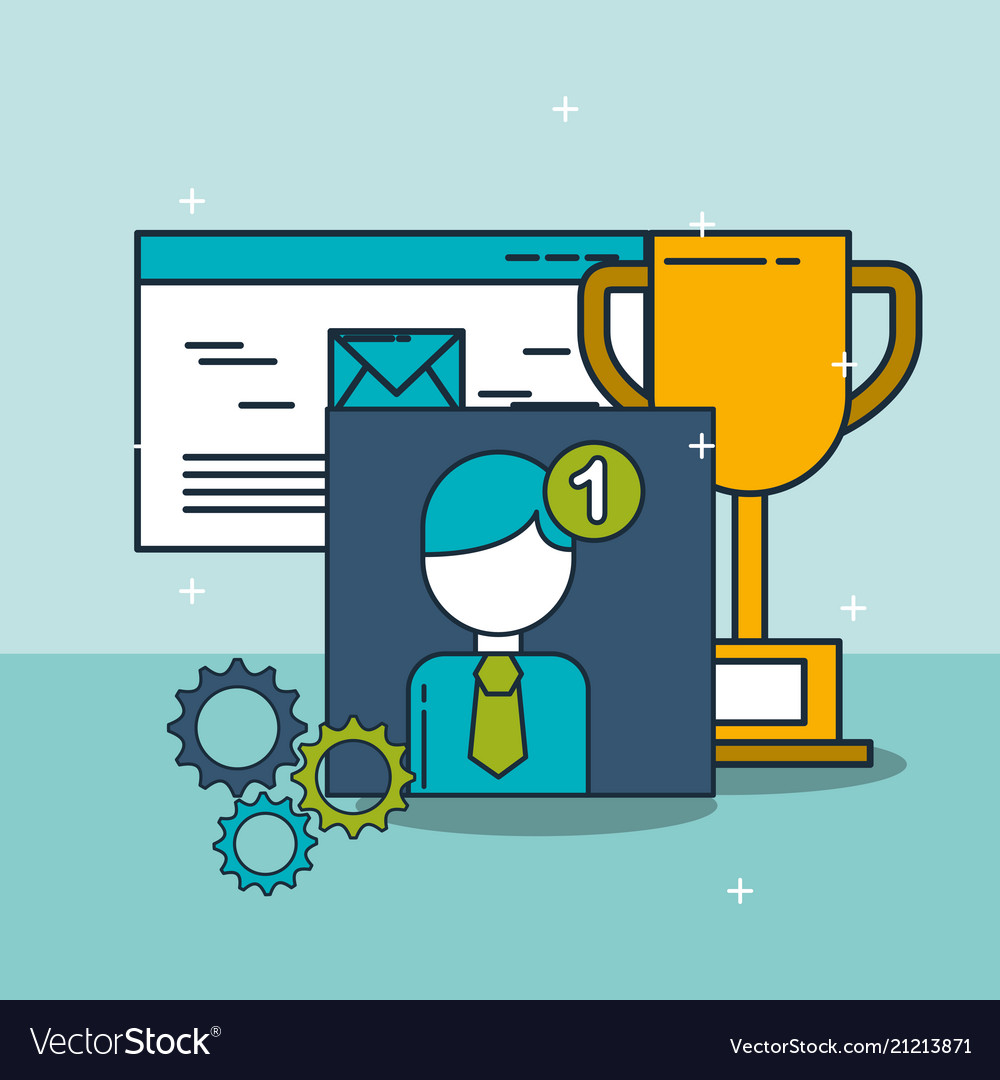 Email trophy notification digital marketing