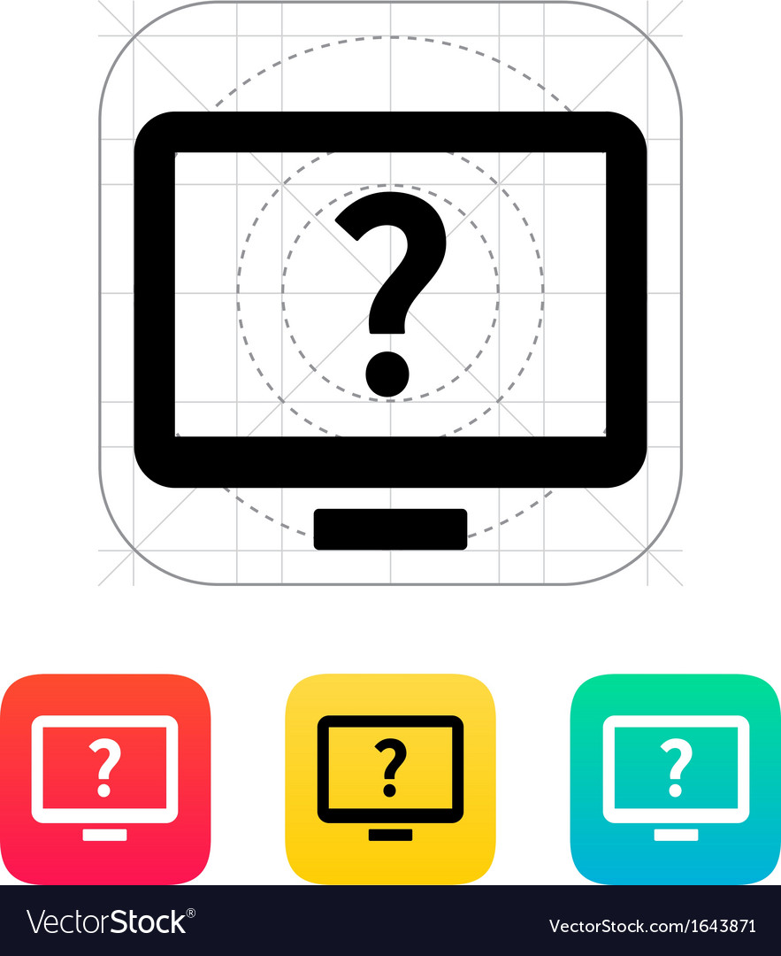 Help and FAQ desktop icon vector image