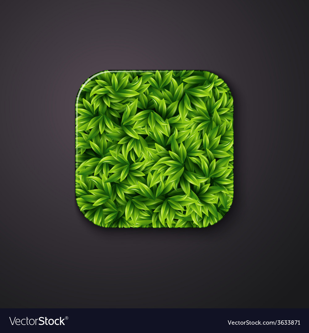 Leaves Texture Icon Stylized Like Mobile App Vector Image Mosaic tile decorative leaves seamless pattern. vectorstock