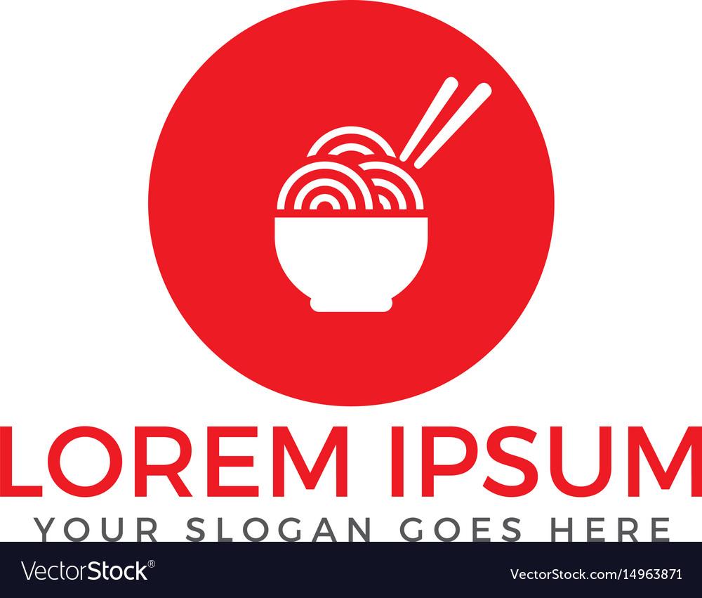 Noodle restaurant and food logo design