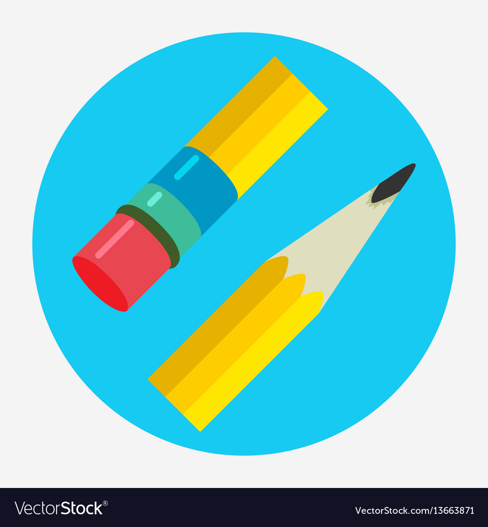 Pencil icon flat logo