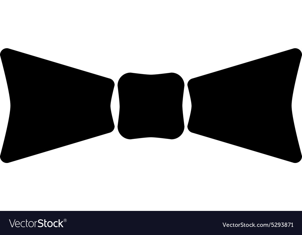 The Bow Tie Icon Bow Tie Symbol Flat Royalty Free Vector