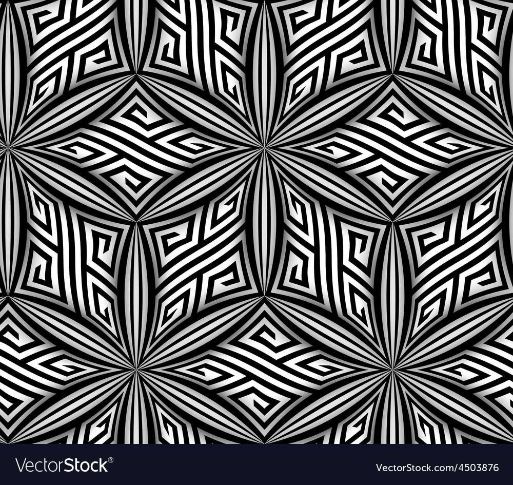 Abstract Op Art ZigZag Seamless Pattern