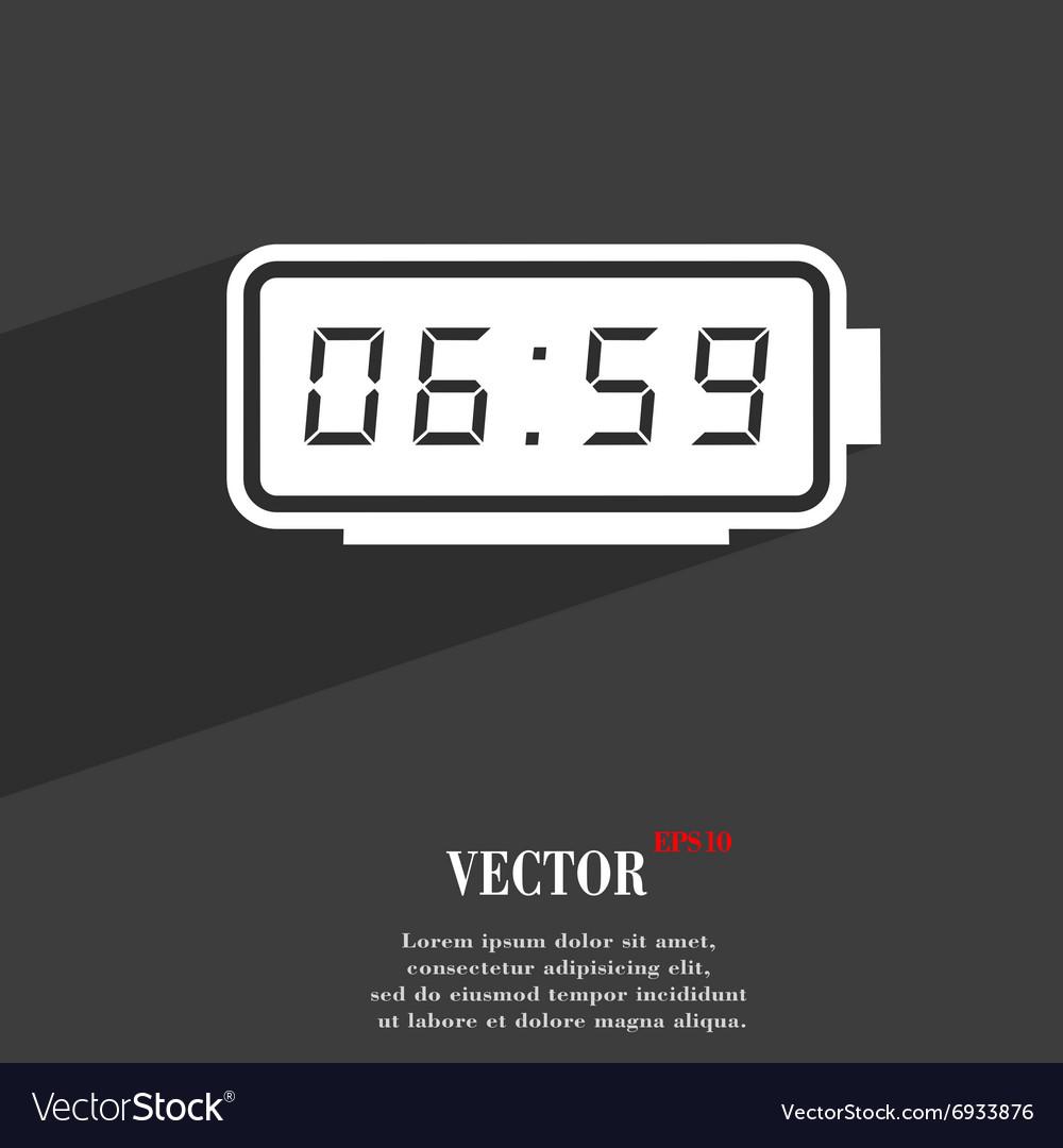 Alarm clock symbol Flat modern web design with vector image