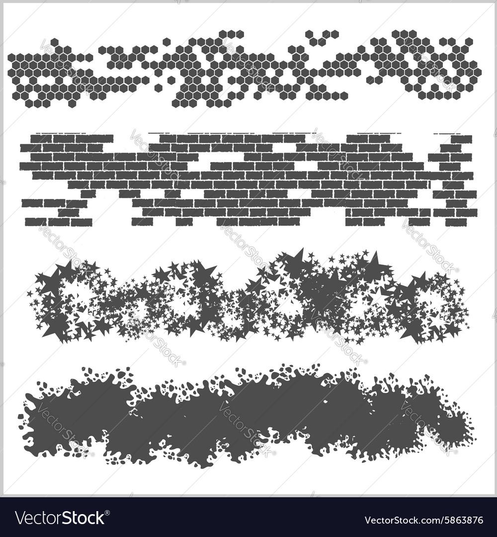 Borders set on white background vector image