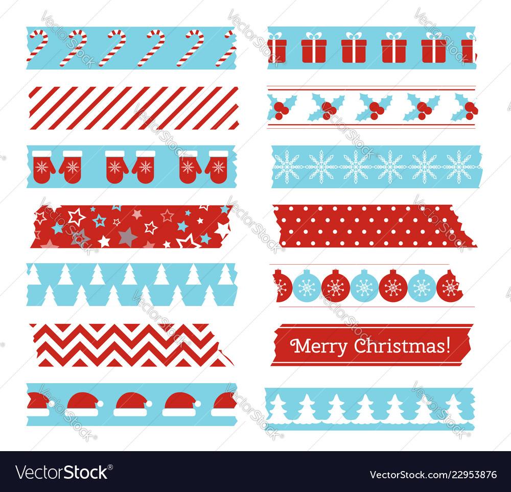 Christmas decorative adhesive type