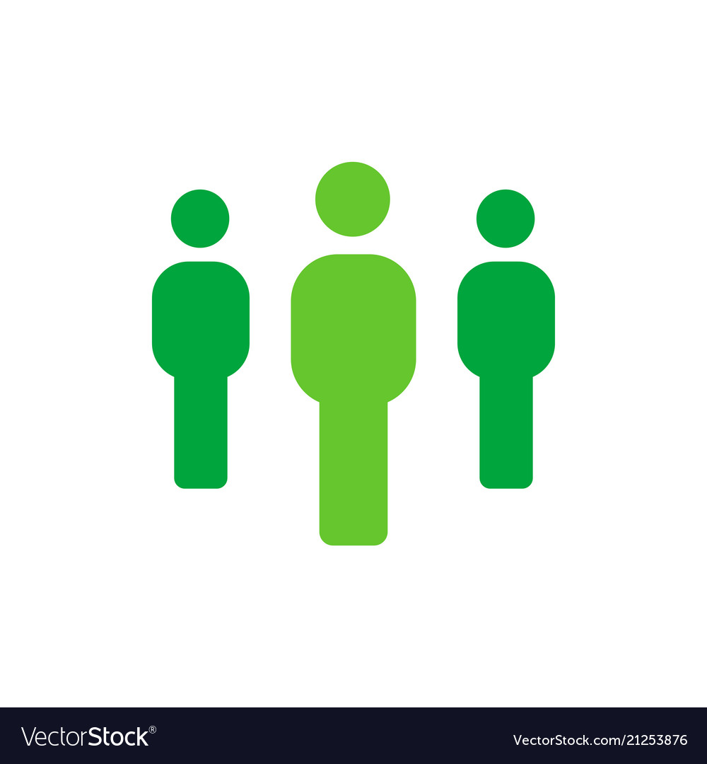 Group of people - employee or teamwork icon - flat