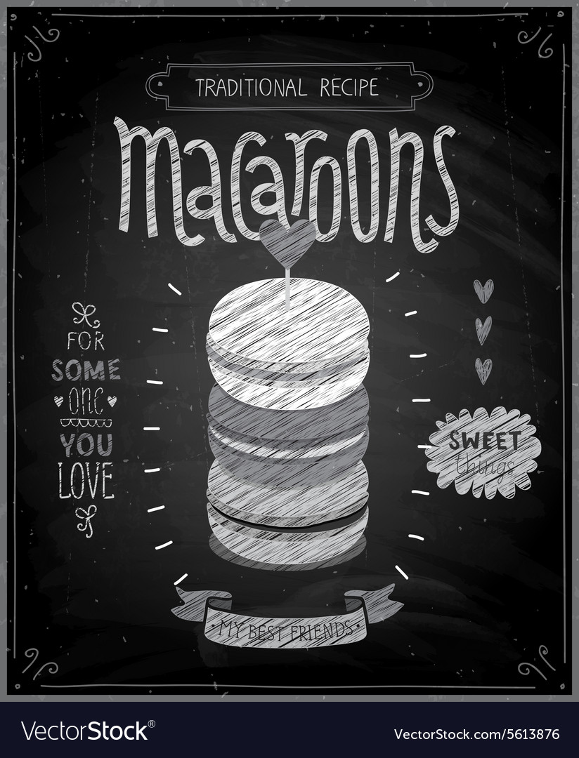 Macaroons Poster - chalkboard style