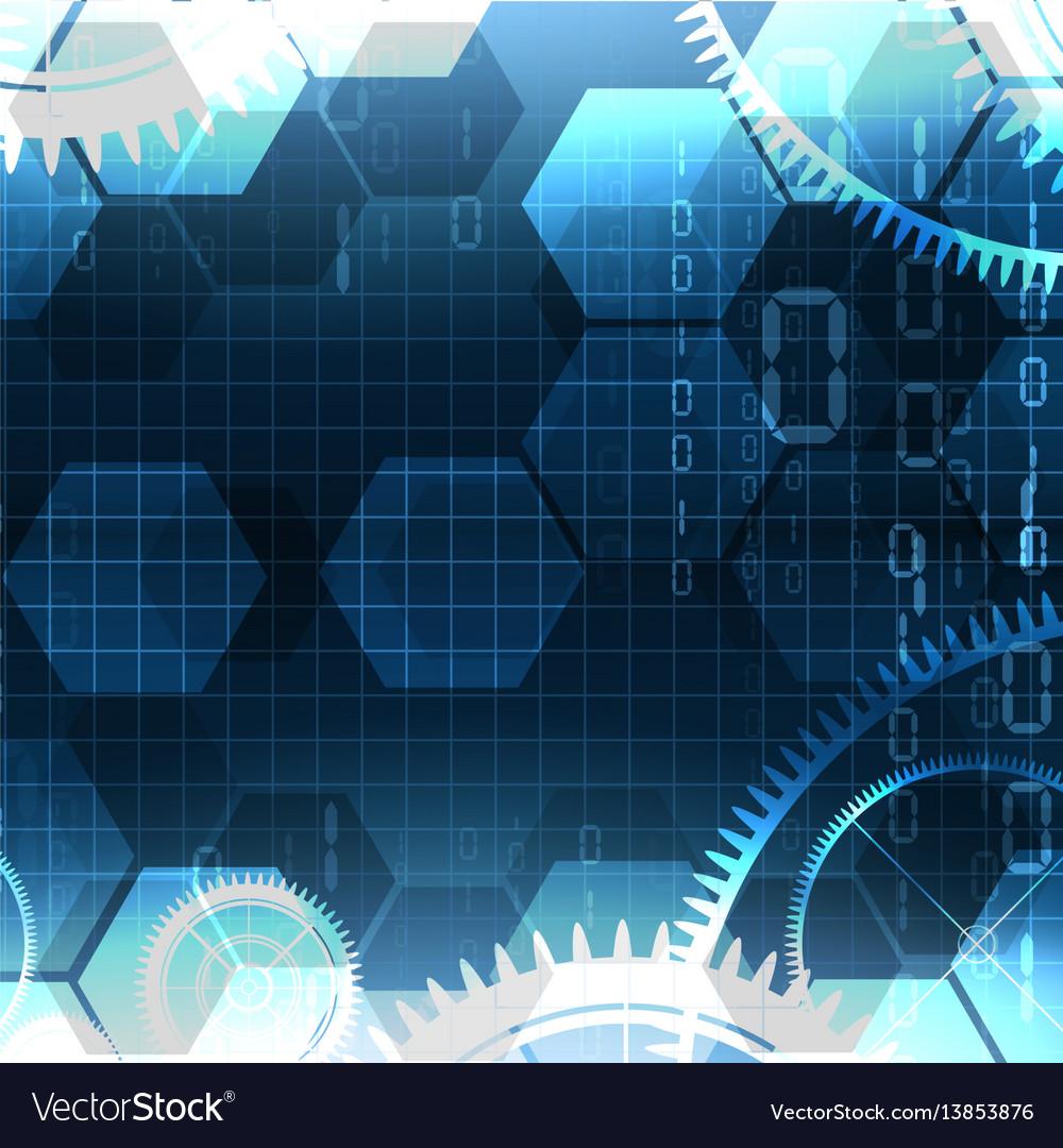 Technological illuminated element background vector image