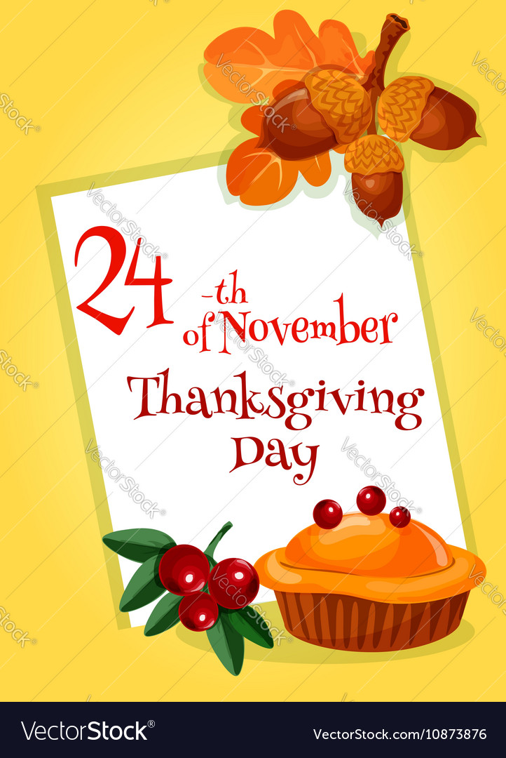 Thanksgiving Day greeting card design