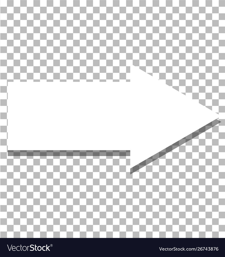 White Arrow Icon On Transparent Background Flat Vector Image