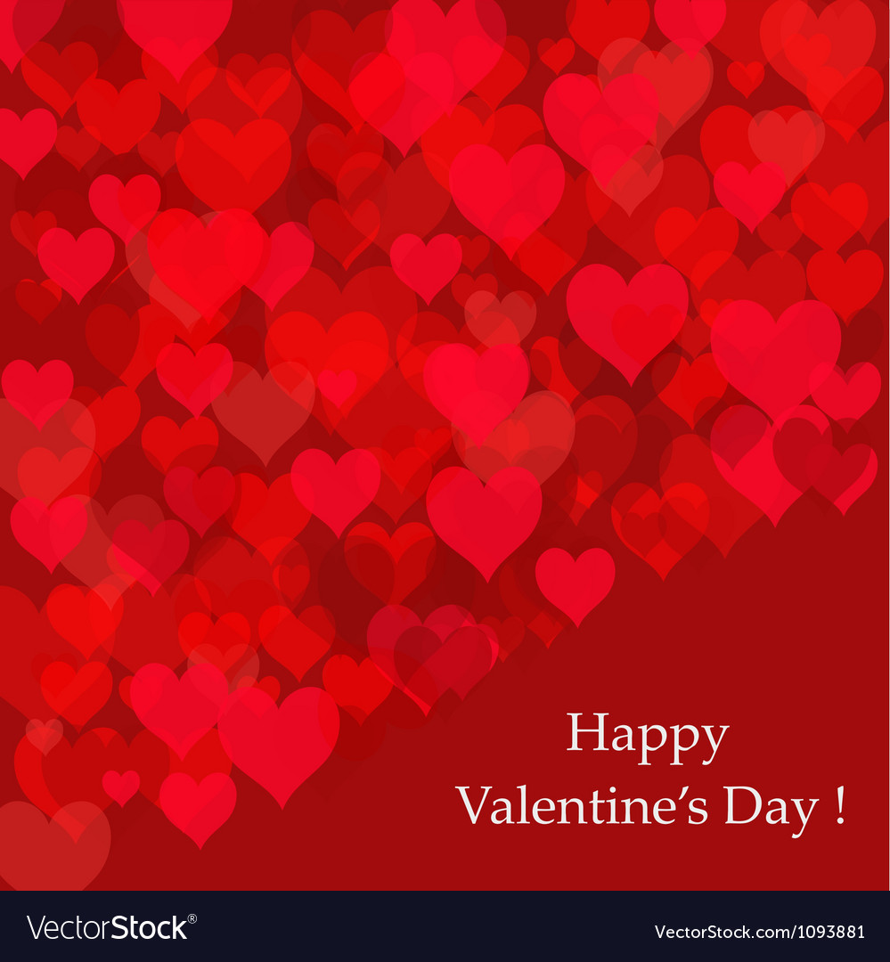 Abstract background of hearts Valentines day card