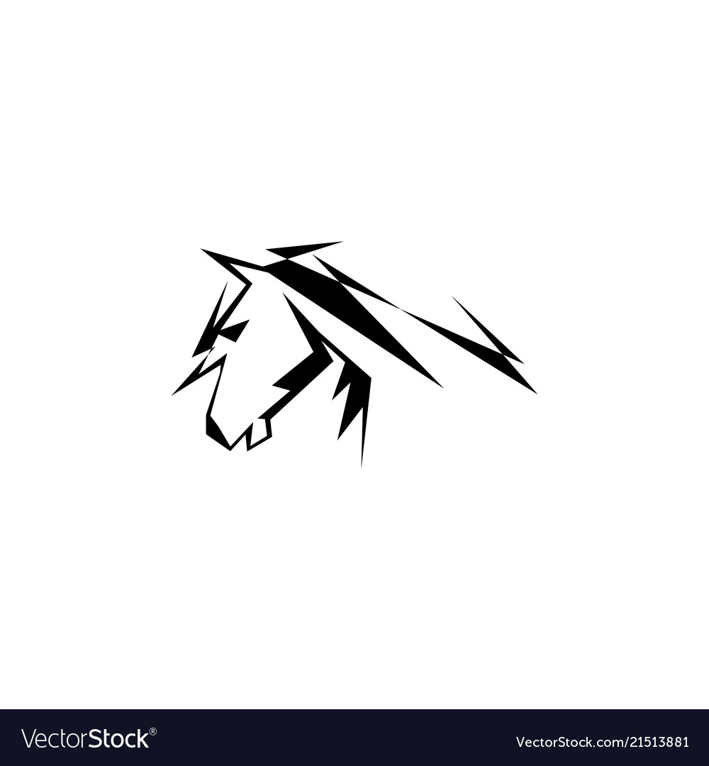 Abstract Horse Royalty Free Vector Image Vectorstock