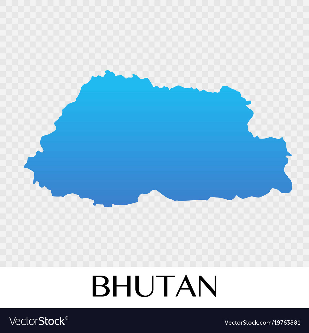 Map Of Asia Bhutan.Bhutan Map In Asia Continent Design