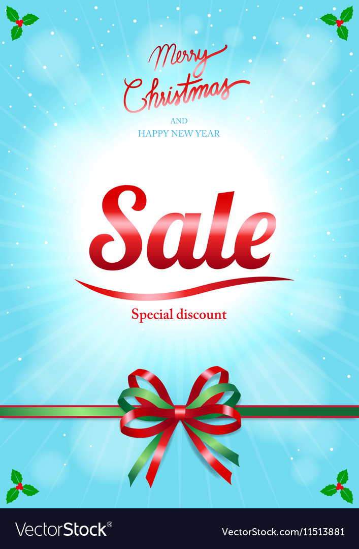 Chrismas and happy new year sale poster