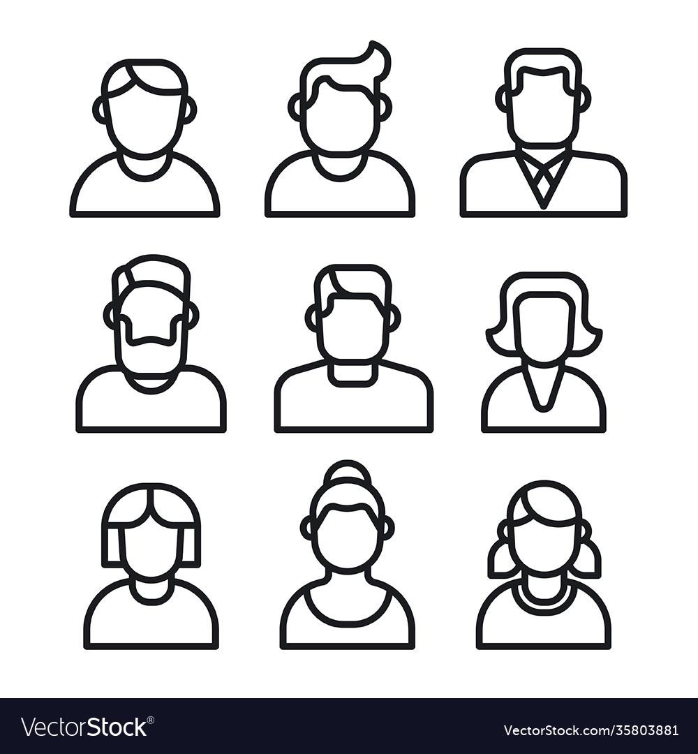 Human avatars set
