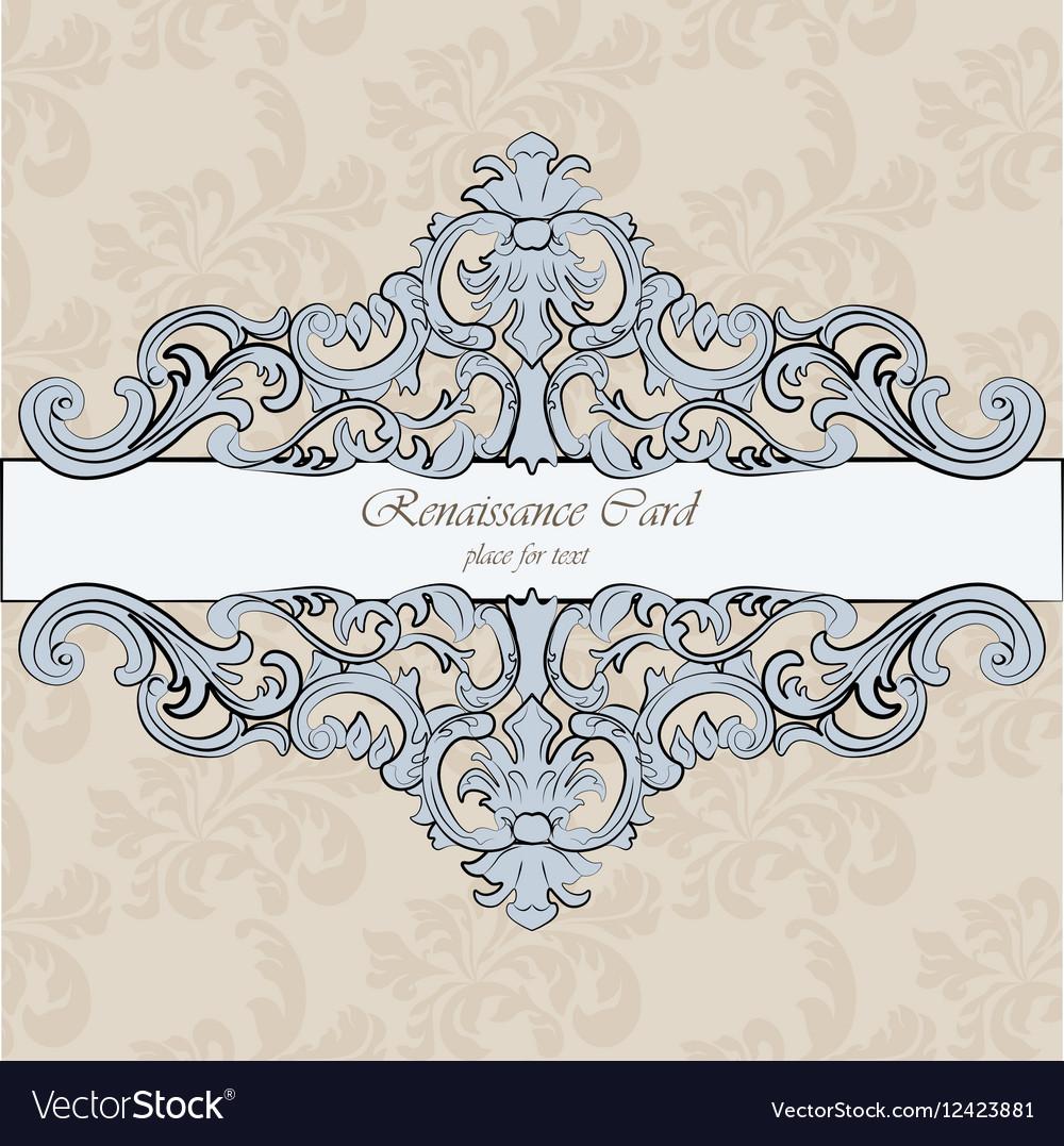 invitation card with royal ornaments royalty free vector