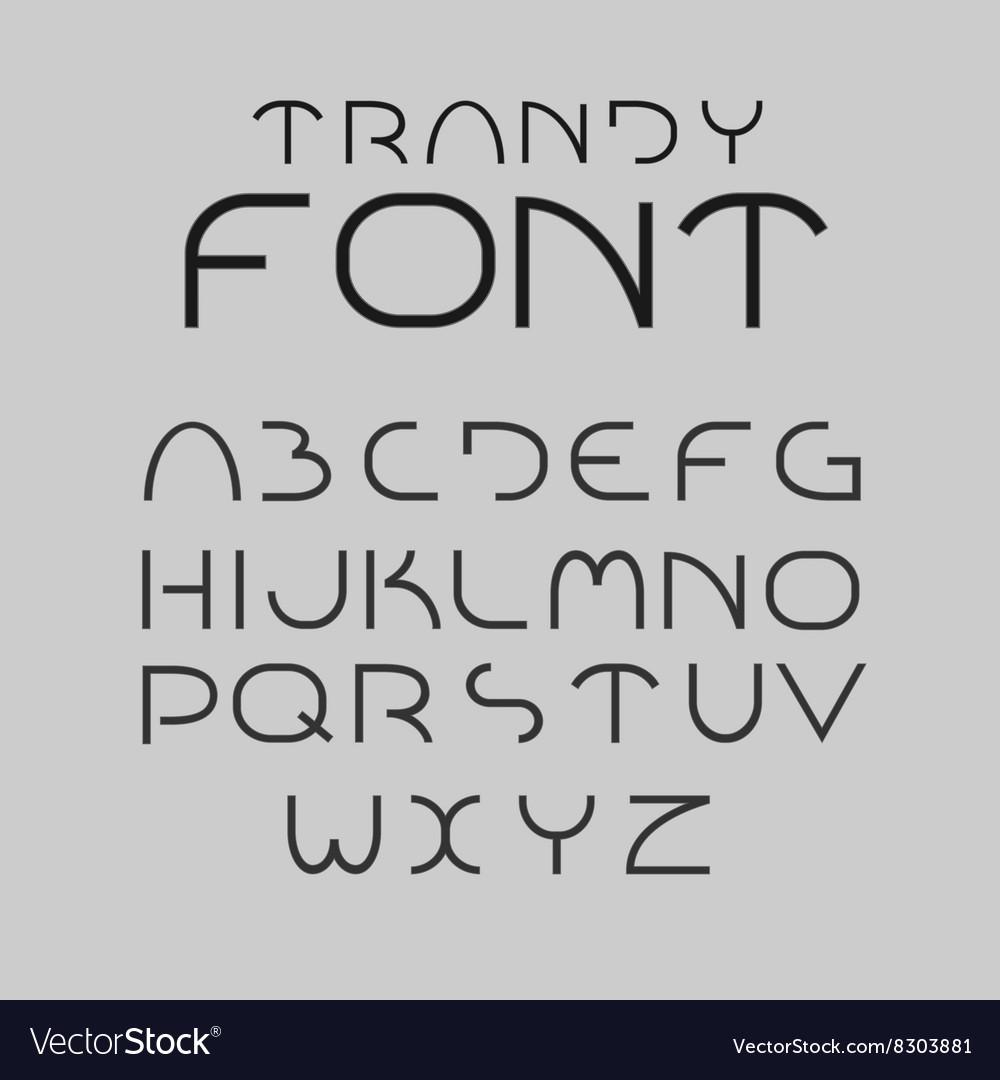 Minimalist alphabet letters