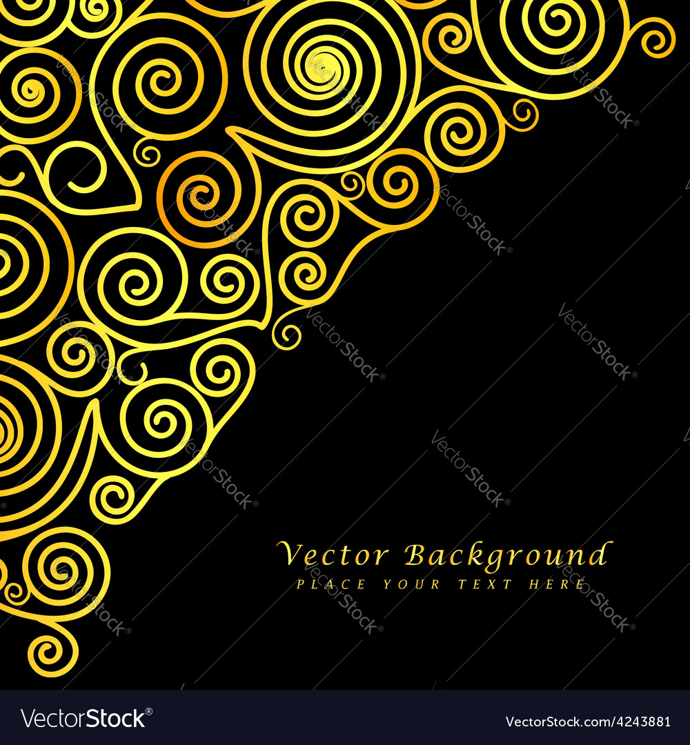 Vintage abstract background with golden