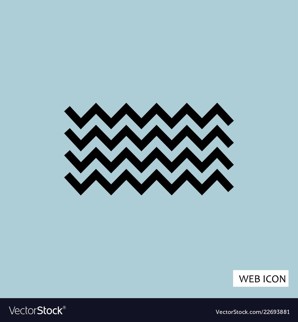 Wave icon eps10 eps jpg flat app web art