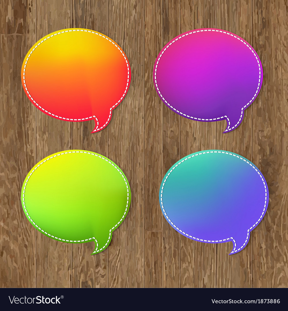 Antique Wooden Background With Speech Bubble