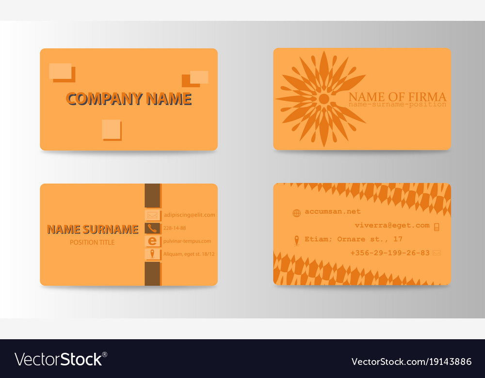 Business card ideas for designers and web design vector image colourmoves