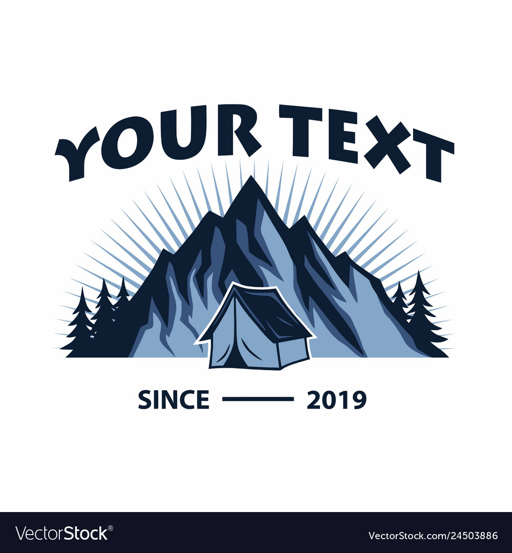 Logo mountain adventure camping template