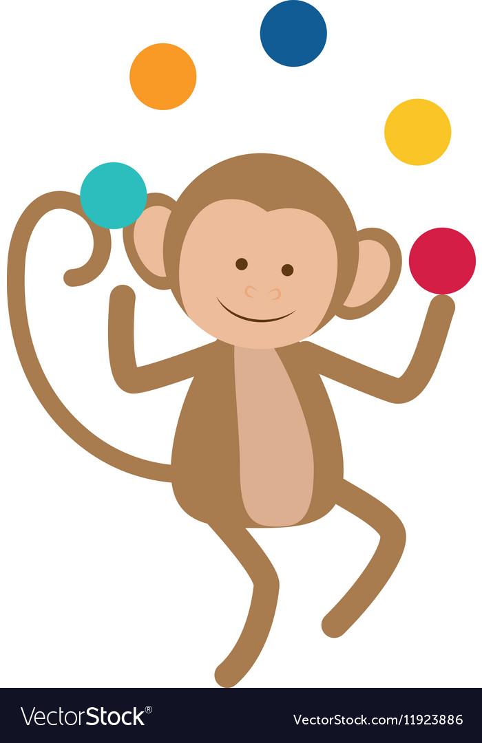 Monkey juggling cartoon